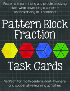 Pattern Block Fraction Task Cards