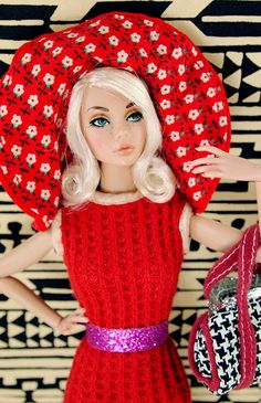 Barbie Vintage Classic Red Thermal Dress / poppy parker