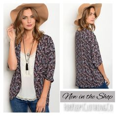 This is perfect for the transition into spring, over a long sleeve tee, or later when summer comes, with shorts and a tank top. I love this kimono, and can't wait to wear it!!    Comes, in S, M, L. Very true to size, but can fit bigger too, since it's flowy and open!    Small can fit up to size 6. Medium up to size 10. Large up to size 14.    Only $20.50 with FREE SHIPPING in the USA! International rates will apply. | Shop this product here: http://spreesy.com/Forkeepsclothingco/314 | Shop…