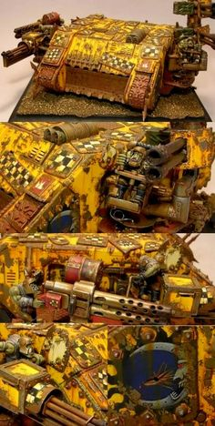 Ork Bad Moonz, Battlewagon, Land Raider, Looted, Warhammer 40k, Kustom