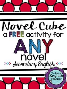 A FREE activity for any novel or short story! Teaching Literature. Secondary English