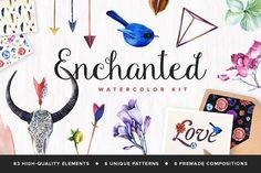 Enchanted Watercolor Kit by PixelBuddha on @creativemarket