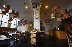 Kate Jessup - Aragona Restaurant (Now Vespolina) dining room column.