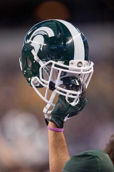 Michigan State football lands Georgia WR Ricky White for 2020 Michigan State Football, Football S, Michigan State University, American Football, College Football, Football Helmets, Nfl Superbowl, Football Uniforms, Super Bowl Memes
