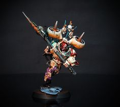 Burgle Flying Badass. I think it is a sorcerer, painted by my favourite French blogger apparently.