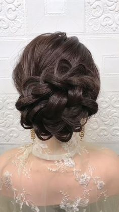 Bun Hairstyles For Long Hair, Braids For Long Hair, Bride Hairstyles, Cute Hairstyles, Kashees Hairstyle, 1800s Hairstyles, Indian Bun Hairstyles, Evening Hairstyles, Hairstyle Wedding