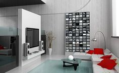 A Photowall made of Fridgi magnetic frames on a metal panel