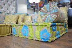 Floor cushion seating