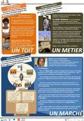 Amidou fait partie du réseau des maçons « Voûte Nubienne » au Burkina Faso. La Voûte Nubienne, cest une technique africaine de construction de toitures.