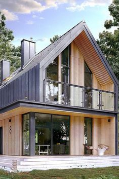 Modern barn homes become the perfect living place for homeowners looking for unusual, unique architectural results. More and more often architects are being asked to old barns into shiny modern homes. Trendy Modern Barn Homes - House Topics Barn Homes Floor Plans, Metal Barn Homes, Barn House Plans, Metal Building Homes, Pole Barn Homes, Building A House, Barn House Kits, Barn House Design, Modern Barn House