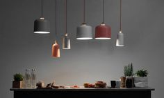 Contemporary pendant lamp (ceramic) FUSE LARGE by Note ex.t