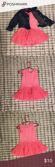 Old Navy tutu dress EUC Old Navy tutu dress. Worn once. No holes., stains, or rips. Color: hot pink. Size: 12-18 months Old Navy Dresses