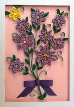 Flowers in Shadowbox