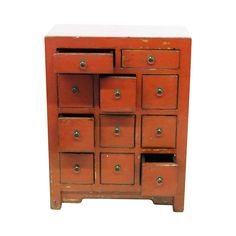 Chest of Drawers Red  by Madera Home