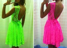 NEON LACE DRESS | Dresstique