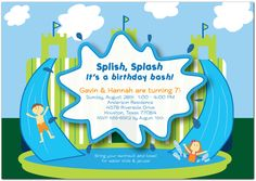 Inflatable water slides have become a big hit at birthday parties! http://www.invitationcelebration.com/cart/splish_splash_castle_details.php