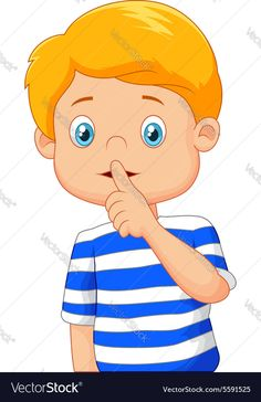Cartoon boy with finger over his mouth Royalty Free Vector , Cartoon Boy, Cartoon Pics, Cartoon Characters, Classroom Images, Classroom Rules, Clipart, Kids Background, Preschool Writing, Kids Canvas