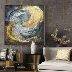 #HugePainting #black #goldleafart #Abstract #SilverLeaf #originalart #Art #luxury #JuliaApostolova #gold#originalpainting #goldleaf #luxurydecor #wallart #original #painting #juliaapostolova #luxury #glam #moderndecoration #interiors #art #minimalart #pinterest #contemporaryart #copperleaf #abstractart #luxuryhomes #modern #trendy #readytohang #artwork #livingroomdecor #largewallart #mixedmediaart #canvas #acrylic #juliaapostolovaart #oldgold #hugeart #abstractart #heavytextured… Gold Leaf Art, Leaf Wall Art, Large Wall Art, Original Art, Original Paintings, Lobby Furniture, Easy Frame, Contemporary Frames, Painted Boxes