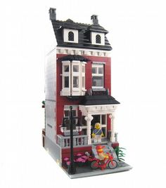 Colonial Revival House - Modular building: A LEGO® creation by Brian Lyles : MOCpages.com
