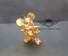 Micky Maus 24 Karat vergoldet.Gold, Gold Plating, 24 K, Vergoldet, Elektro Plating