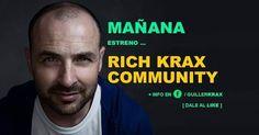 Mañana estreno... RICH KRAX COMMUNITY  Sólo en mi página de facebook Dale LIKE  VER PRIMERO y entérate.  www.guillerkrax.es  #emprendedor #blog #influencer #marketing #visual #digital #online #branding #redes #sociales #social #media #rich #community #play #win