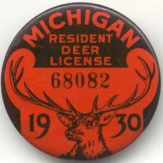 Old hunting license Vintage Cabin, Vintage Maps, Vintage Ephemera, Vintage Items, Vintage Logos, Hunting License, Hunting Stuff, Logo Deer, Deer Art