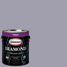 Glidden Diamond 1 gal. #HDGV50 Mineral Violet Eggshell Interior Paint with Primer