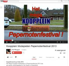 Rolf Muggen Videoproducties uit Beilen heeft een fantastisch filmpje gemaakt van het Mega Koopplein ModePieten Pepernotenfestival op 1 december bij de Warrel in Westerbork.  http://koopplein.nl/middendrenthe/3247615/pepernotenfestival-op-youtube.html