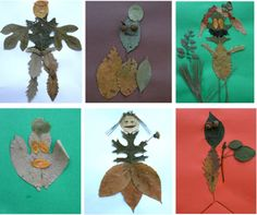leaf people!!!! Free &fun project... Perfect for 3-5 year olds :-)