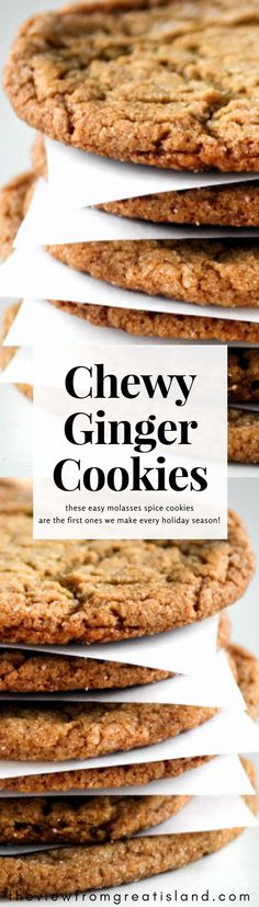 Chewy Ginger Cookies are the ultimate fall and holiday cookie, full of warm spices and molasses.