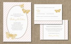 Dear Evie butterfly invitation #wedding