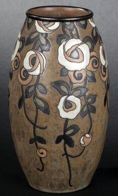 Art Déco - Charles Catteau - Paire de Vases