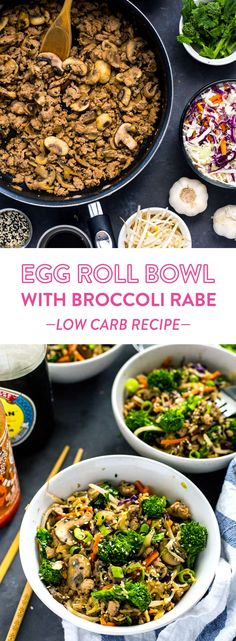 Gluten Free Egg Roll Bowl with Broccoli Rabe makes the perfect weeknight dinner.
