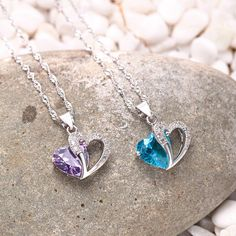 """""""Absolutely love this necklace, it's made of great quality, no nickle in it. It's beautiful, I've had tons of compliments on it. My boyfriend bought it for me for Christmas"""" from our customers feedback.  Love Heart Cut Zircon Diamond 925 Sterling Silver Pendant Necklace>>>  #gift #necklace #girlfriend #Christmas #jewelry #newyear #present #necklace #couple #love #diamond Arrow Necklace, Pendant Necklace, Couple Bracelets, Love Heart, My Boyfriend, Sterling Silver Necklaces, Gifts For Her, Christmas Jewelry, Diamond"""