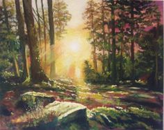 'Morning invading the woods' by Rod Bere