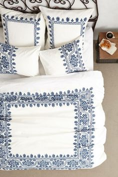 Coyuchi Aari Embroidered Duvet from Anthropologie