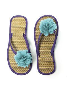 ab09dade486d flip flops in wedding colors  ) Cute Flip Flops