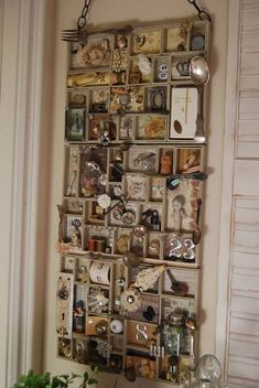 Gammy's Little House: Cubbies of treasured LITTLES - this would perfect for my stairway wall!