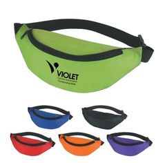 Fanny pack with maximum belt size, black trim, and made of 210 Denier Polyester. Custom Reusable Bags, Custom Bags, Promotional Bags, Quality Logo Products, Neoprene, Tote Backpack, Wholesale Bags, Hip Bag, Black Trim