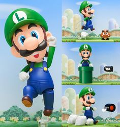 Nendoroid Luigi (Mario Bros.)  Did Luigi just think big? Luigi: Looks like it's time for me to Think...BIG! If I have a problem, don't know which way to go, I think and think and think and think...and suddenly I know! Mario: Come ona, Luigi, THINKA!