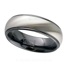 Geti Natural and Black Zirconium Ring