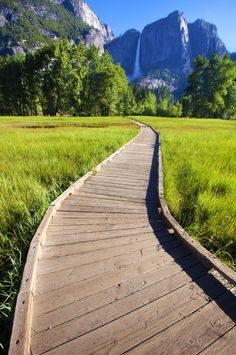 Cook's Meadow Loop: This 2.25-mile boardwalk path is one of the most popular and accessible trails in the park, and with views of Yosemite Falls in the distance, it's easy to see why.