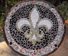 mosaic  #fleur_de_lis #mosaic