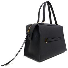 526f2e9f6e Celine Black Bullhide Calfskin Small Ring Bag