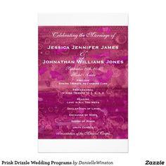 "Prink Fuchsia Wedding Programs 5.5"" X 8.5"" Flyer - Watercolor"