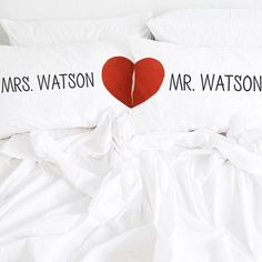 Personalized Mr and Mrs pillow,housewarming gift, wedding gift,Personalized Wedding Pillow, Family name pillow, name pillow,couple gift by CreativePillowLV on Etsy https://www.etsy.com/listing/235102337/personalized-mr-and-mrs