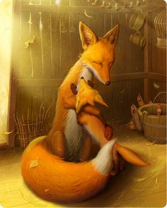 "Illustrations for children book ""Spry Fox"" by Maryana Kniazevych."
