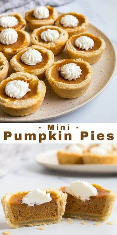 Mini Pumpkin Pies in Muffin Cups (small Pumpkin Pie) - Dessert for Two