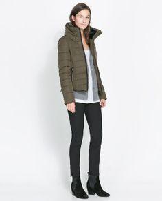 Image 1 of COMBINED PUFFER ANORAK from Zara