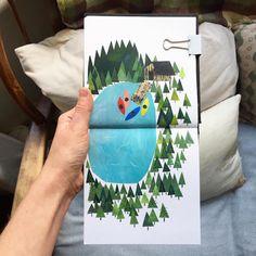 Clover Robin Artist's Travel Collages Showcase the Bountiful Beauty of the Pacific Northwest Art Du Collage, Travel Collage, Sketch Journal, Voyage Europe, Road Trip Adventure, Art Plastique, Art Sketchbook, Botanical Illustration, Art Journals
